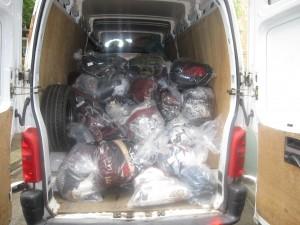 Van of counterfeit goods